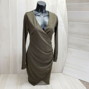 Charlotte Russe Sweater Dress Faux Wrap M NWT EQ9